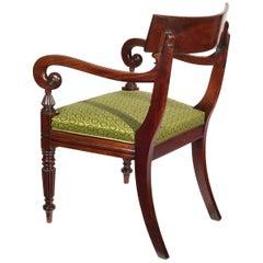 19th Century English Regency Desk Armchair