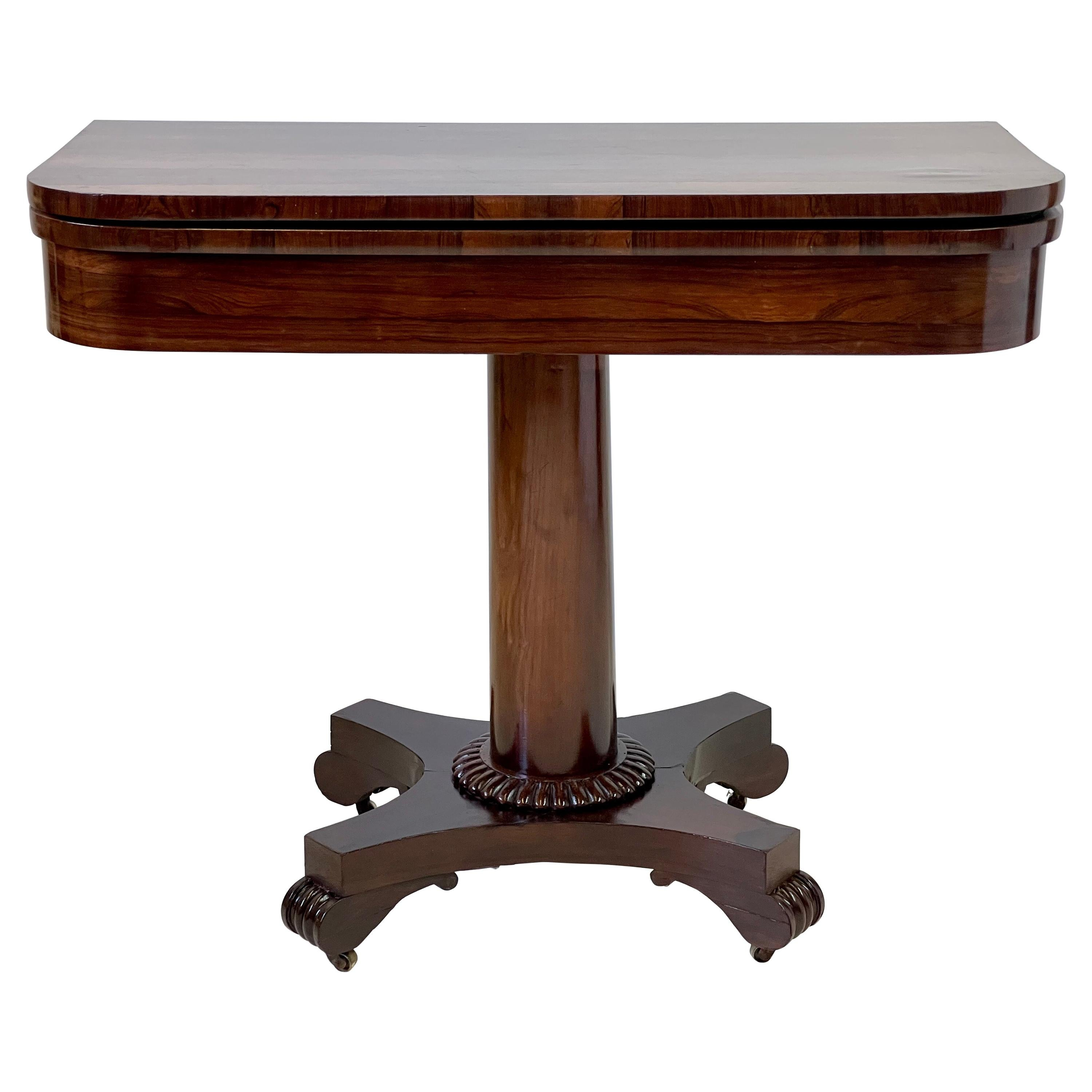19th Century English Regency Game Table of Rosewood