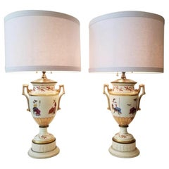 19th Century English Regency Grecian Style Urns Converted to Lamps