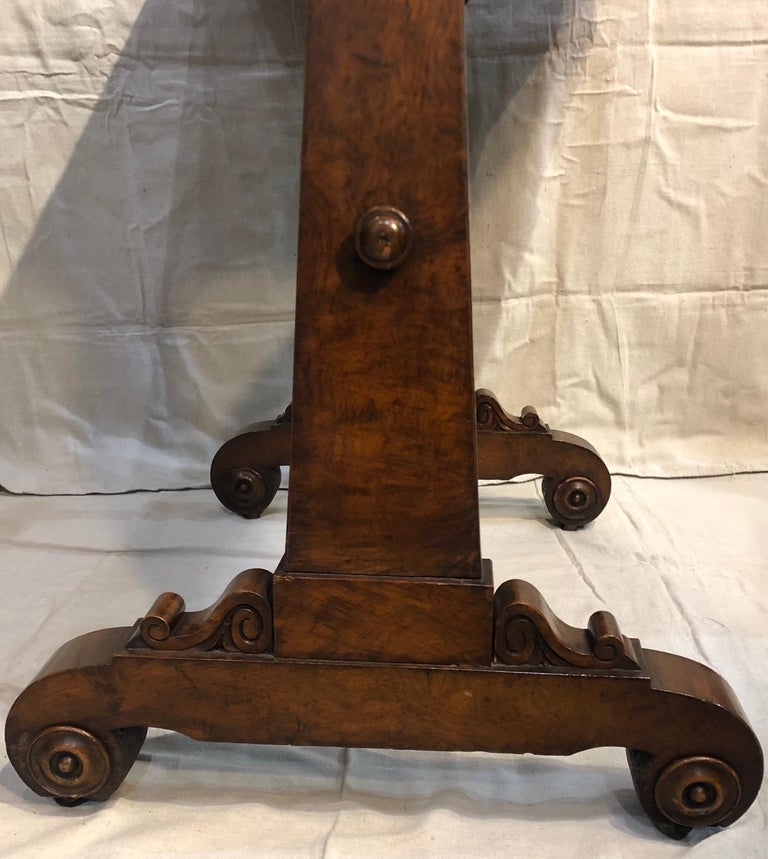 19th Century English Regency Hardwood Sofa Table In Good Condition For Sale In Charleston, SC