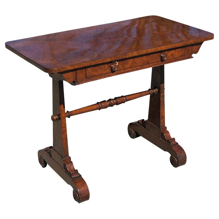 19th Century English Regency Hardwood Sofa Table For Sale