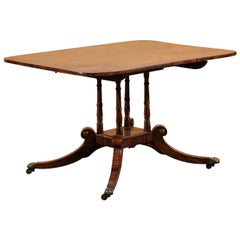 19th Century English Regency Inlaid Rosewood Breakfast Table, circa 1810