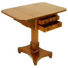 19th Century English Regency Mahogany Small Pembroke or Drop-Leaf Side Table