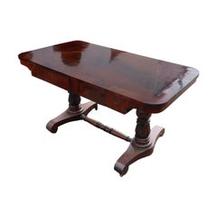 19th Century English Regency Mahogany Window Table