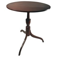 19th Century English Regency Maple Tripod Tilt-Top Side Table