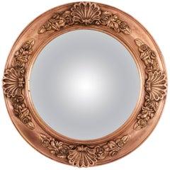 19th Century English Regency Molded Copper Circular Convex Mirror