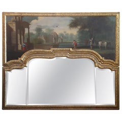 19th Century English Regency Over- Mantel Mirror
