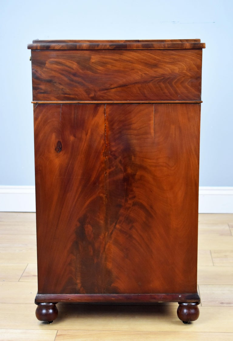 19th Century English Regency Period Flame Mahogany Davenport Desk by Wilkinson For Sale 1