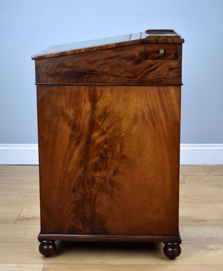 19th Century English Regency Period Flame Mahogany Davenport Desk by Wilkinson For Sale 2