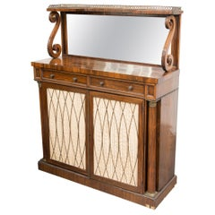 19th Century English Regency Rosewood Chiffonier