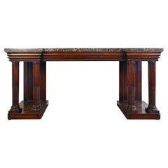 19th Century English Regency Rosewood Serving Table Console