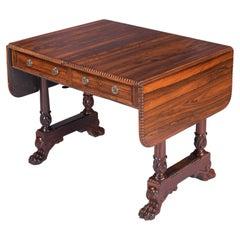 19th Century English Regency Sofa / Library Table