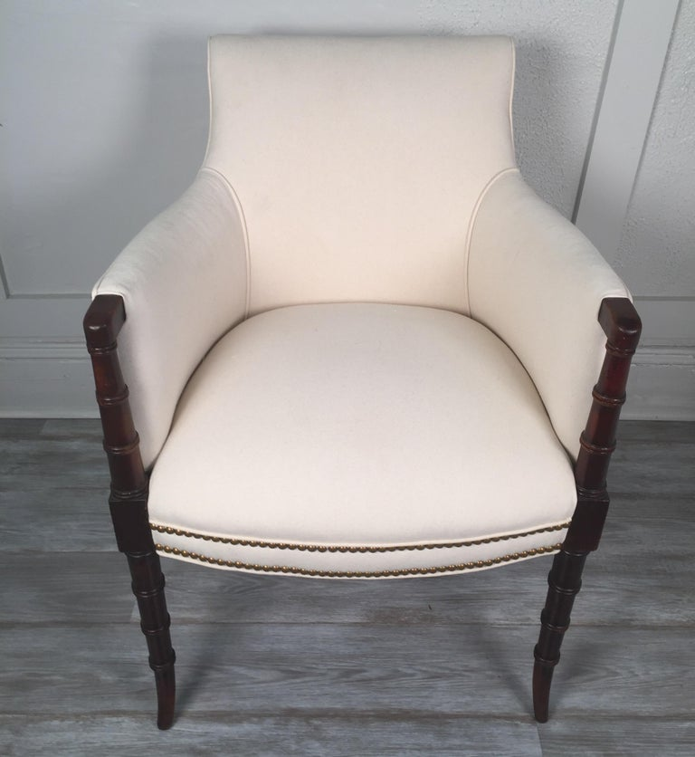 19th Century English Regency Style Armchair For Sale 8