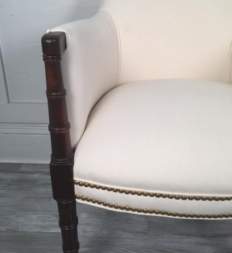 19th Century English Regency Style Armchair For Sale 1