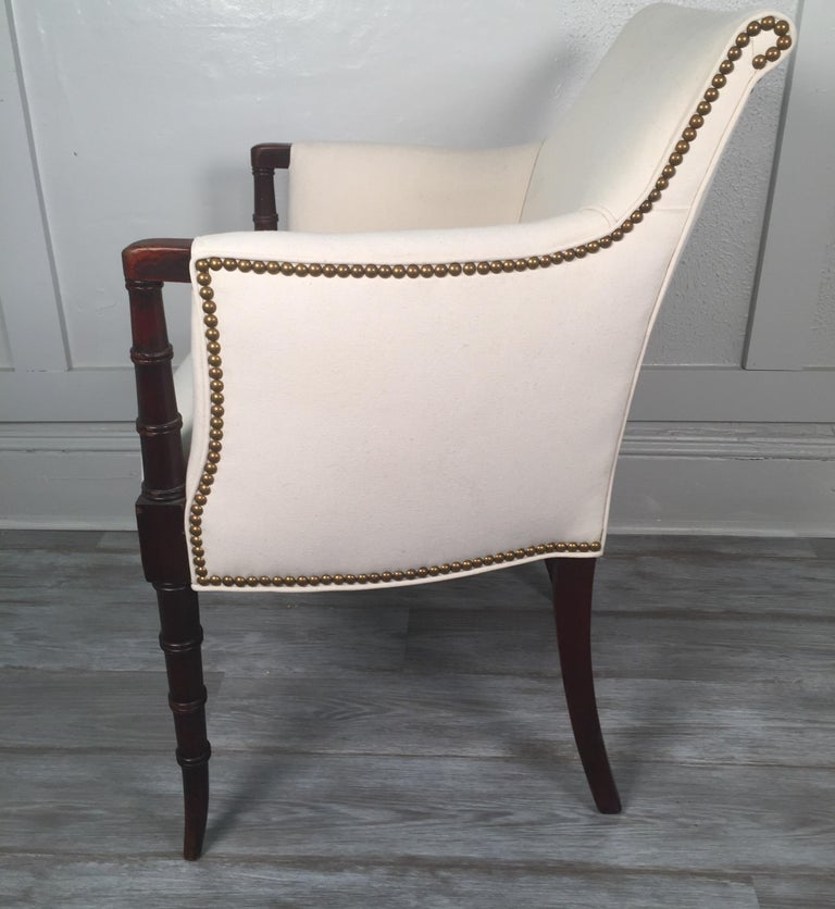 19th Century English Regency Style Armchair For Sale 2
