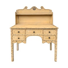 19th Century English Regency Style Painted Desk