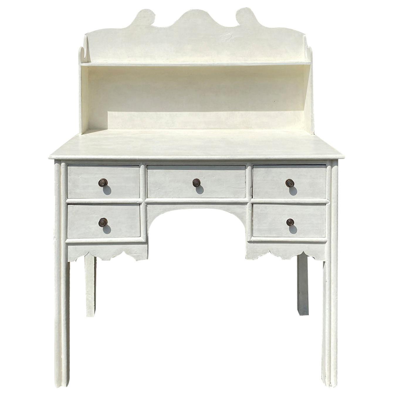 19th Century English Regency Style Painted Desk with Custom Finish