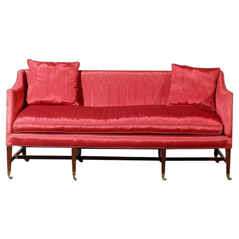 19th Century English Regency Style Upholstered Settee, circa 1820