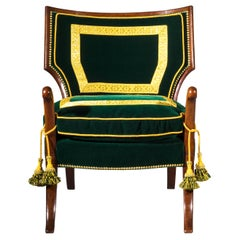 19th Century English Regency Thomas Hope Greek Revival Klismos Armchair