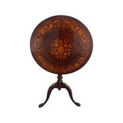 19th Century English Regency Tilt Top Tea Table