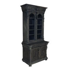 19th Century English Renaissance Bookcase