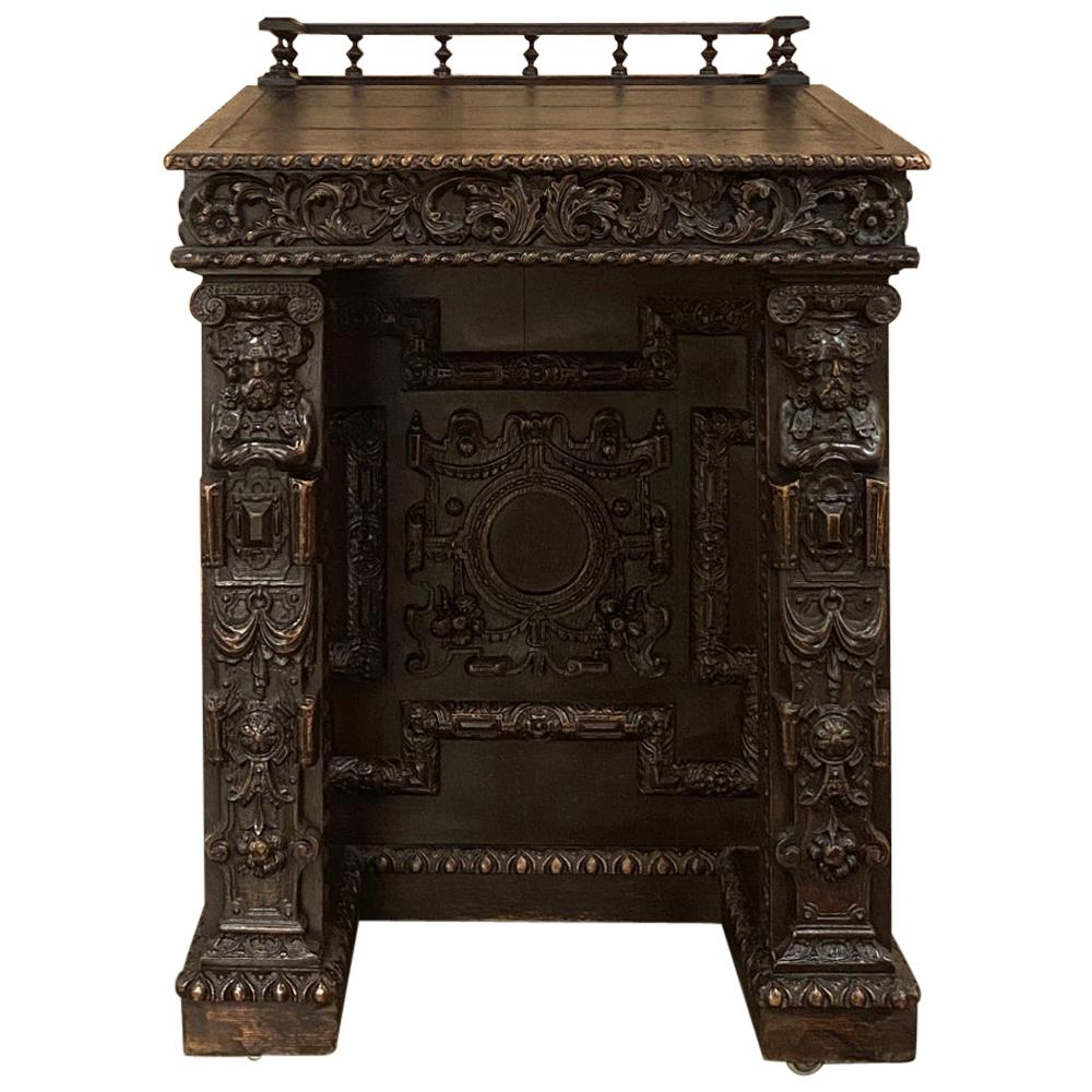 19th Century English Renaissance Davenport Desk