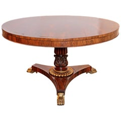 19th Century English Rosewood and Gilt Bronze Center Table