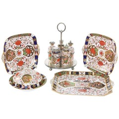 19th Century English Royal Crown Derby Serving Pieces