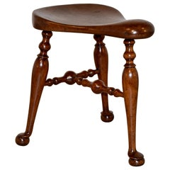 19th Century English Saddle Seat Stool