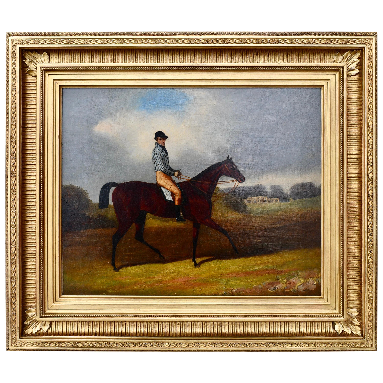 19th Century English School Horse and Jockey