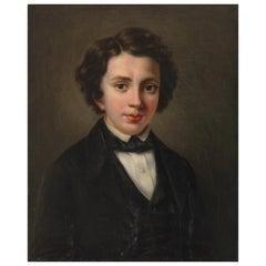 19th Century English School, Portrait of a Very Fine Gentleman, Oil on Canvas