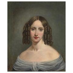 19th Century English School, Portrait of a Very Fine Lady, Oil on Canvas
