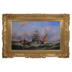 19th Century English Seascape / Marine Painting by John Callow, British