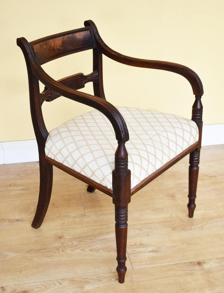 19th Century English Set of 8 Regency Mahogany Dining Chairs For Sale 3