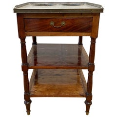 19th Century English Shaving Table with Marble Top