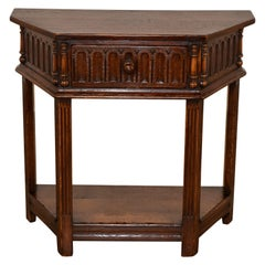 19th Century English Side Table with Single Drawer