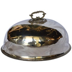19th Century English Silver Plated Meat Dome