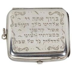 19th Century English Silver Vesta Case, Pocket Match Safes for Shabbat Lights