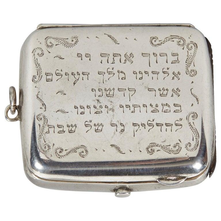 19th Century English Silver Vesta Case, Pocket Match Safes for Shabbat Lights For Sale