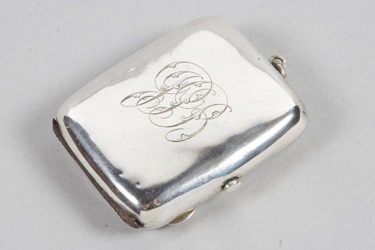 Mid-19th Century 19th Century English Silver Vesta Case, Pocket Match Safes for Shabbat Lights For Sale
