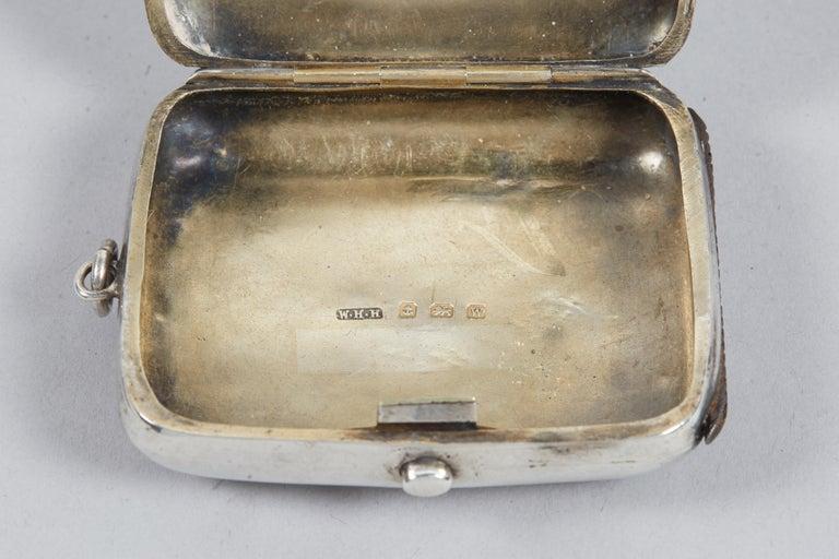 19th Century English Silver Vesta Case, Pocket Match Safes for Shabbat Lights For Sale 2