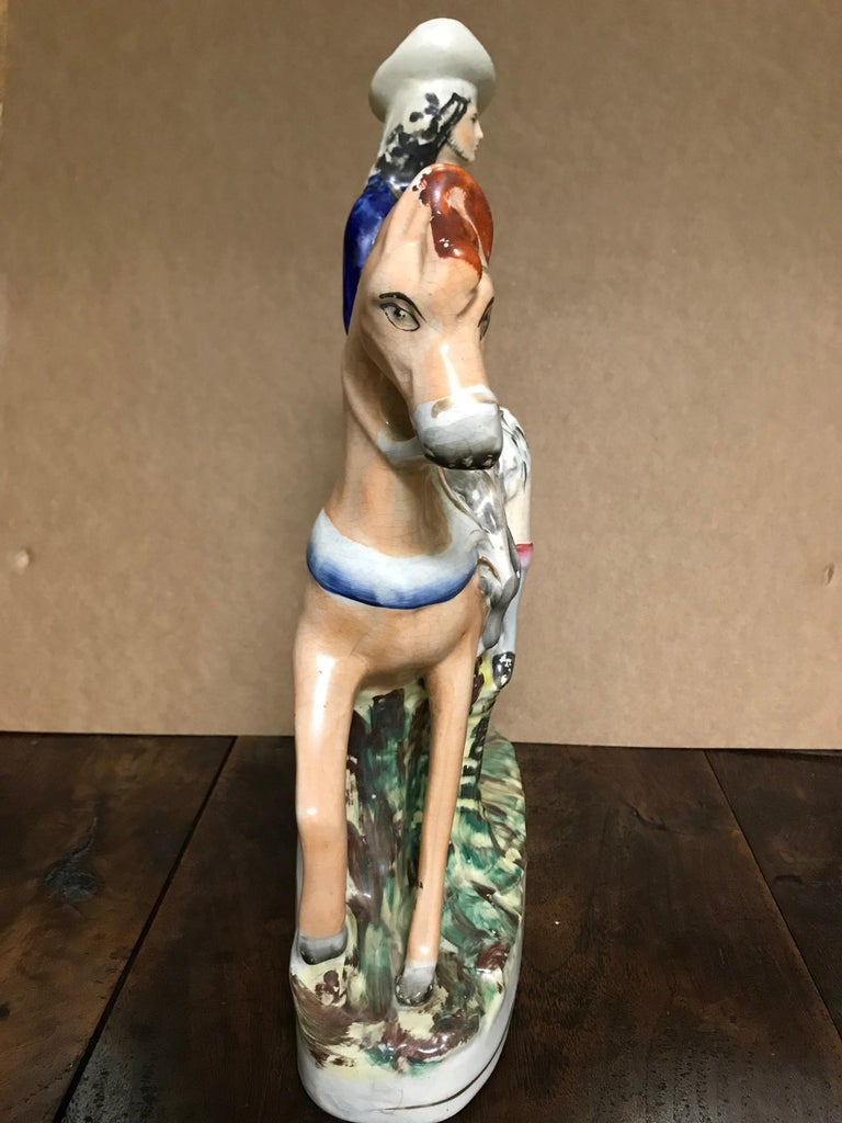 19th Century English Staffordshire Scottish Hunter on Horseback For Sale 9