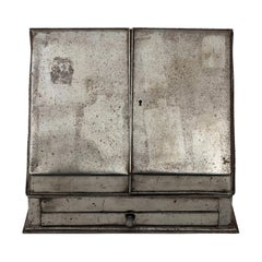 19th Century English Steel Secretary Box