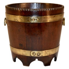 19th Century English Strapped Bucket