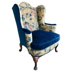 19th Century English Tapestry Wing Chair