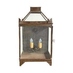 19th Century English Tole Lantern Sconce