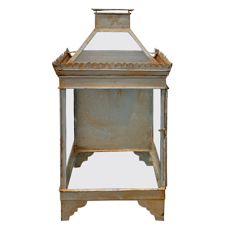 19th Century English Tole Wall-Mount Lantern For Sale