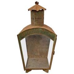 19th Century English Tole Wall Mount Lantern