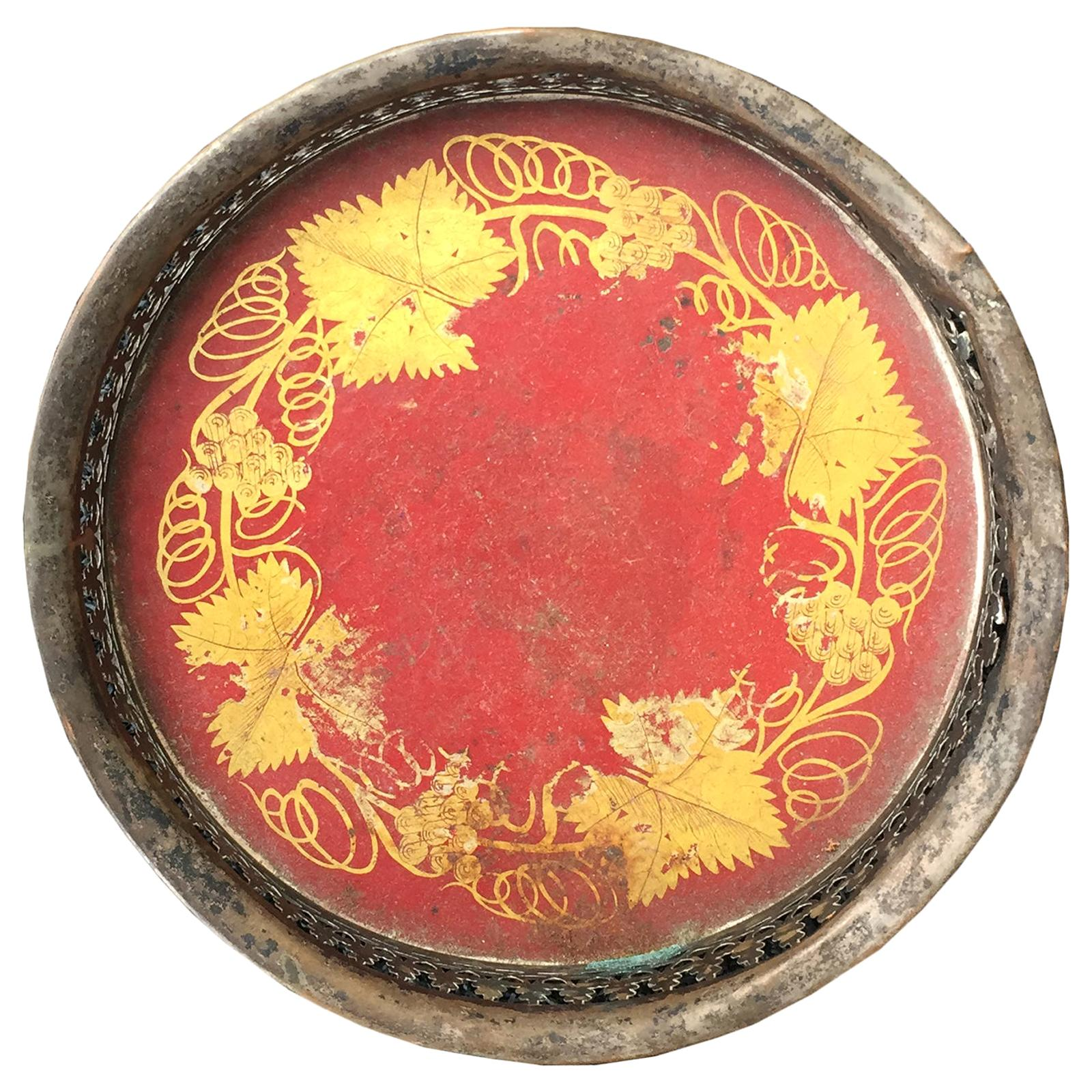 19th Century English Tole Wine Coaster