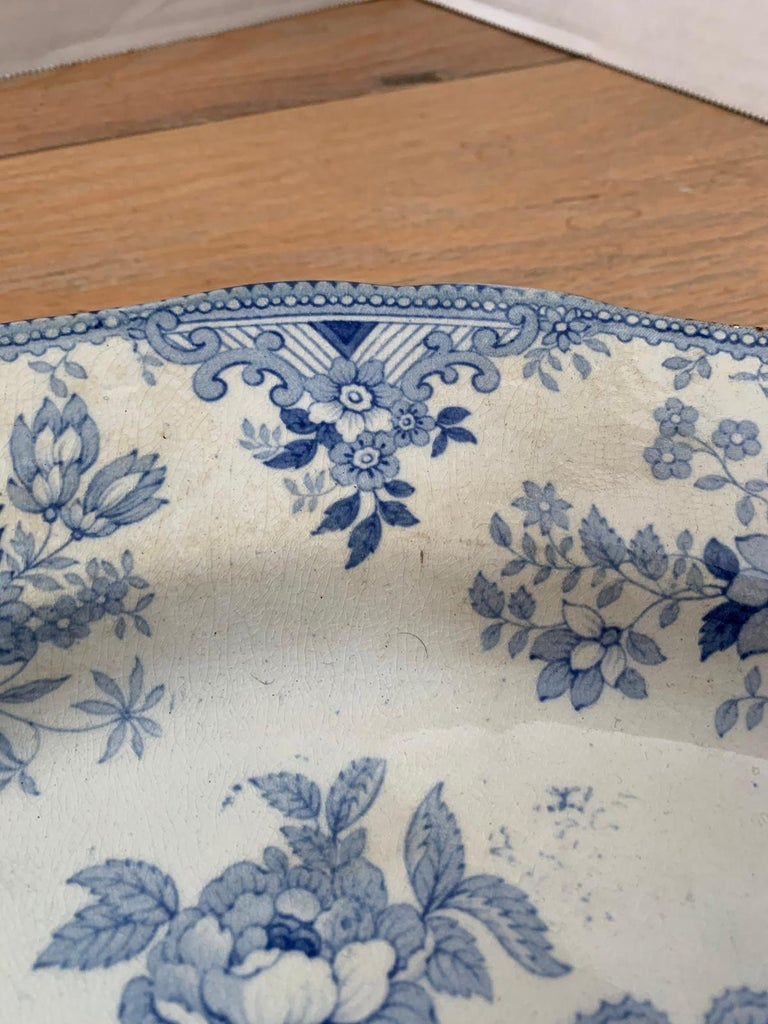 19th Century English Transferware Charger in Asiatic Pheasants Pattern Signed JF For Sale 6